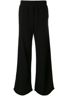 T By Alexander Wang pull on wide leg trousers - Black