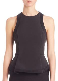 T by Alexander Wang Racer Peplum Top