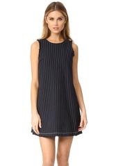 T by Alexander Wang Raw Edge Sleeveless Mini Dress