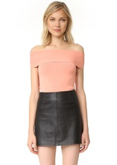 T by Alexander Wang Rib Knit Off Shoulder Top
