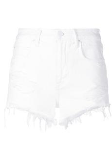 T By Alexander Wang ripped short denim shorts - White