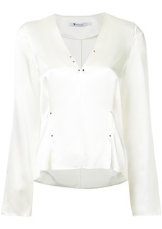 T By Alexander Wang rivet embellished blouse - White