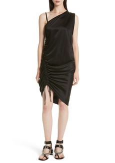 T by Alexander Wang Ruched Asymmetrical Dress