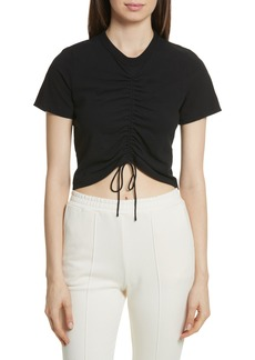 T by Alexander Wang Ruched Cotton Tee