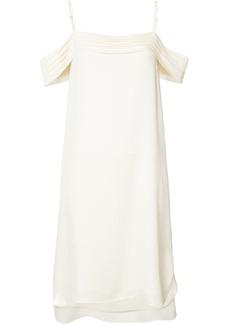 T By Alexander Wang ruffled drop shoulder dress - White
