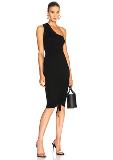T by Alexander Wang Rusched One Shoulder Dress