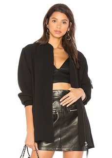 T by Alexander Wang Satin Back Crepe Bomber in Black. - size L (also in XS,S,M)