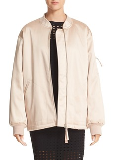 T by Alexander Wang Satin Bomber
