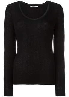 T by Alexander Wang scoop neck jumper