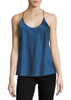 T by Alexander Wang Scoop-Neck Racerback Satin Camisole