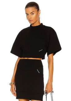T by Alexander Wang Sculpted Cropped T-Shirt