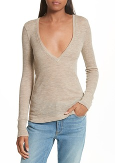 T by Alexander Wang Sheer Wool Sweater
