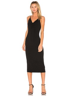 T by Alexander Wang Shirred Front Sleeveless Dress in Black. - size M (also in S,XS)