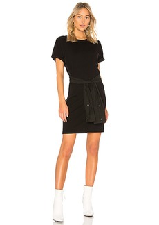 T by Alexander Wang Shirt Tie Mini Dress