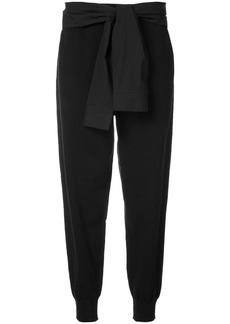 T By Alexander Wang shirt tie tapered trousers - Black
