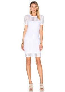 T by Alexander Wang Short Sleeve Fitted Dress