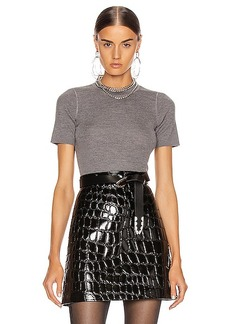 T by Alexander Wang Short Sleeve Knit Top
