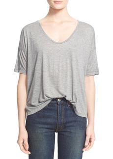 T by Alexander Wang Short Sleeve Low Neck Tee