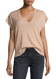 T by Alexander Wang Short-Sleeve Scoop-Neck Pullover Tee