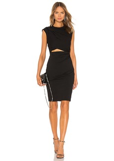 T by Alexander Wang Shoulder Twist and Key Hole Dress