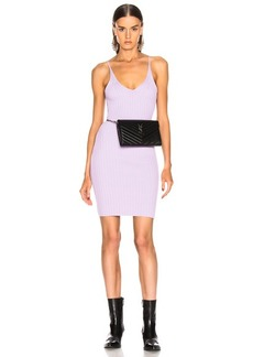 T by Alexander Wang Shrunken Rib Fitted Tank Dress