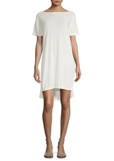 T by Alexander Wang Silk-Blend Slub T-Shirt Dress
