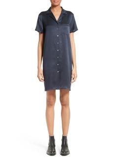 T by Alexander Wang Silk Shirtdress