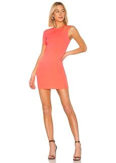 T by Alexander Wang Sleek Rib Asymmetric Dress