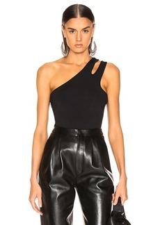T by Alexander Wang Sleek Rib Asymmetric Tank Top