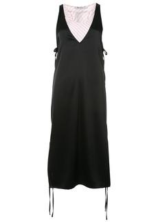 T By Alexander Wang Sleeveless double layer dress - Black