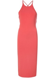 T By Alexander Wang sleeveless fitted dress - Red
