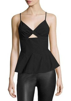 T by Alexander Wang Sleeveless Shirt W/ Front Keyhole