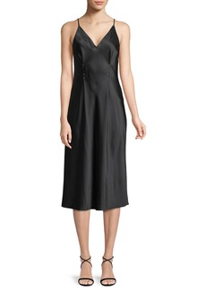 T by Alexander Wang Sleeveless Silk Charmeuse Camisole Midi Dress