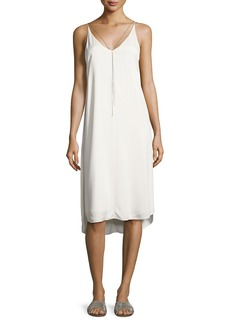 T by Alexander Wang Sleeveless Stretch Crepe Midi Dress