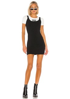 T by Alexander Wang Sport Layering Double Faced Knitted Logo Dress