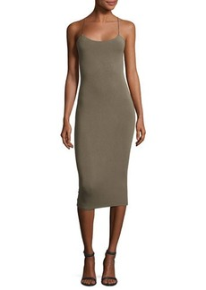 T by Alexander Wang Strappy Camisole Midi Dress