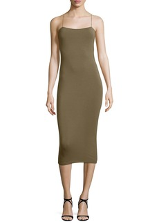 T by Alexander Wang Strappy Cutout Midi Dress