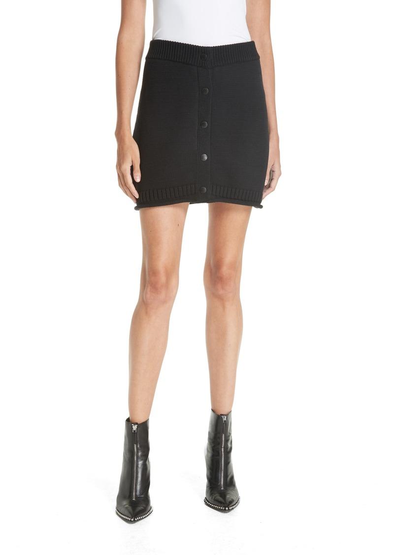 T by Alexander Wang Stretch Cotton Miniskirt