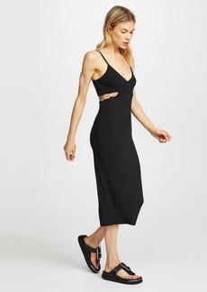 T by Alexander Wang Stretch Jersey Crisscross Cutout Fitted Dress