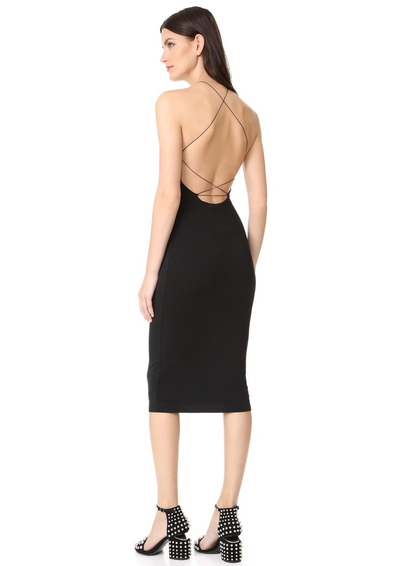T By Alexander Stretch Jersey Razor Front Dress