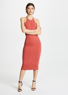 T by Alexander Wang Stretch Jersey T Back Midi Dress