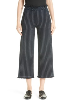 T by Alexander Wang Stripe Burlap Crop Pants