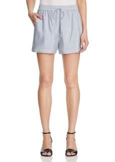 T by Alexander Wang Stripe Drawstring Shorts