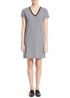T by Alexander Wang Stripe Jersey T-Shirt Dress