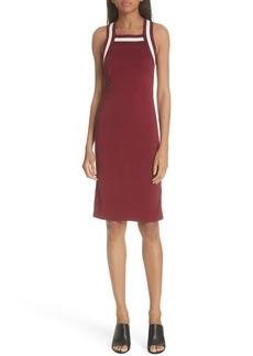 T by Alexander Wang Stripe Trim Sheath Dress