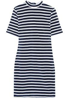 T by Alexander Wang Striped cotton-blend terry mini dress
