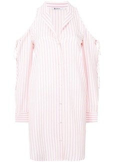 T By Alexander Wang striped shirt dress - Pink & Purple