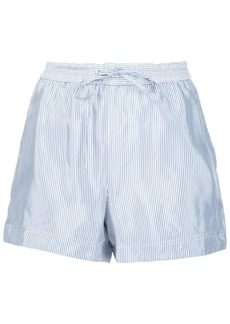 T By Alexander Wang striped shorts - Blue
