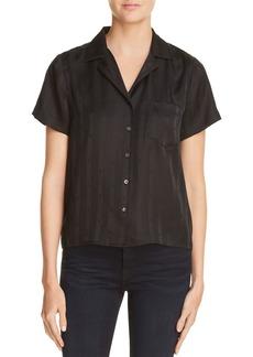T by Alexander Wang Striped Silk Jacquard Shirt