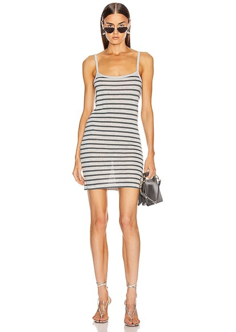 T by Alexander Wang Stripped Slub Tank Dess